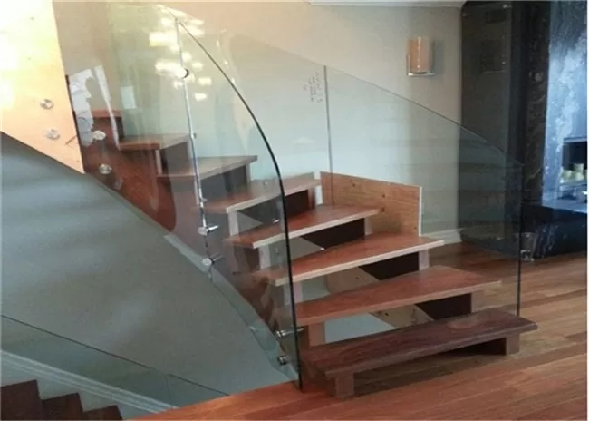 Standoff Glass Balustrade Curved Oak Staircase Painted Finish For | Glass And Oak Banister | Minecraft | Traditional | Stair Case | House | Designer