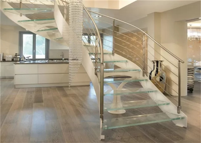 Interior Wrought Iron Curved Wooden Staircase Floating Wood | Iron And Wood Staircase | Traditional | Spiral | White | Internal | Cherry Wood