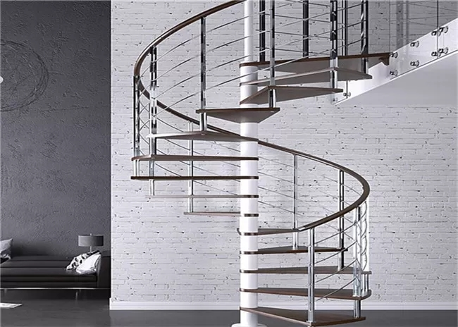 Carbon Steel Tread Custom Spiral Staircase Outdoor Wood Spiral   Outdoor Spiral Staircase For Sale   Patio   Used   Faux Wood Exterior   Design   Exterior