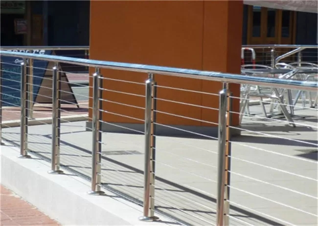 314 316 Stainless Steel Railing Stair Wire Balusters With Wire   Steel Railing For Steps   Balustrade   Simple   Fabrication   Carbon Steel   Wooden