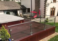 Exterior Stainless Steel And Glass Railing Systems , Steel