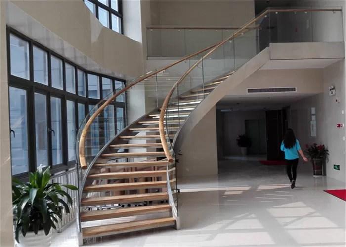 Residential Stainless Steel Metal Spiral Staircase Indoor Usage   Stainless Steel Spiral Staircase   Custom Iron   Wooden   Indoor   Bronze   Top