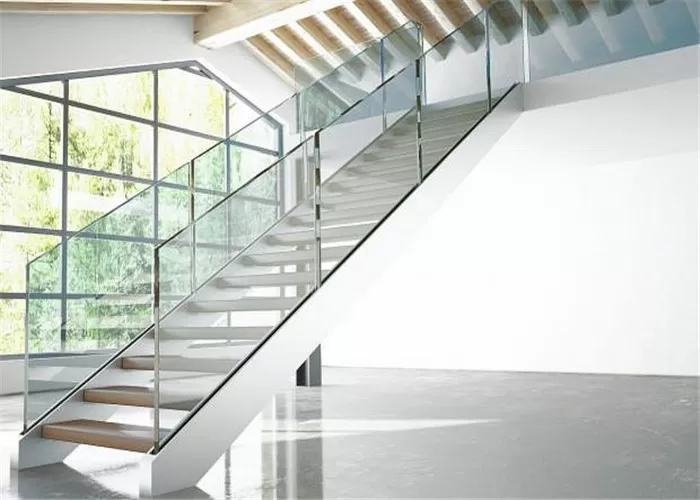 Indoor Stair Frameless Glass Railing U Channel Aluminium Alloy   Frameless Glass Stair Railing   Metal   Contemporary   Seamless Glass   Glass U Shape   Detail