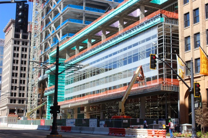 The Eccles Theater as seen from 200 South Main Street. Photo by Isaac Riddle.