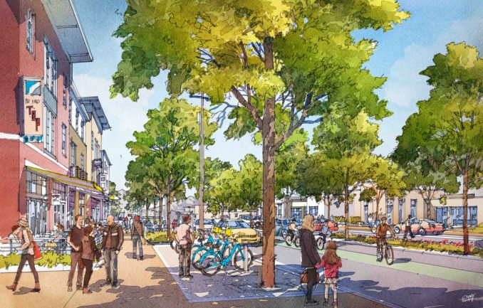 Streetscape renderings for 900 South. Image courtesy Urban Design Associates.