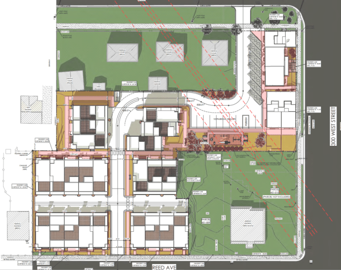 The site plan for the Marmalade Courtyards. Image courtesy Salt Lake City.