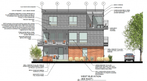 A depiction of materials for the Tag Townhomes. Image courtesy Salt Lake City planning.