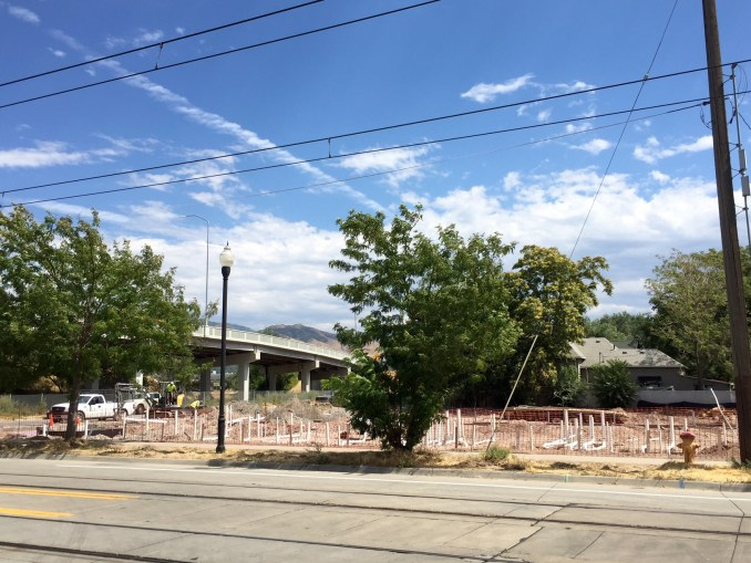 Construction is starting on the TenFifteen Apartments as seen from 200 West. Photo by Isaac Riddle.
