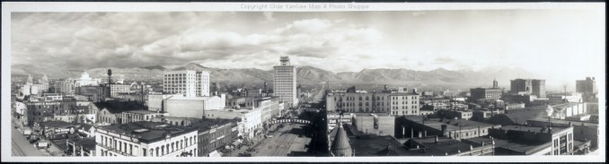 A 1913 photo of downtown Salt Lake. Image courtesy Flickr user oldeyankee.
