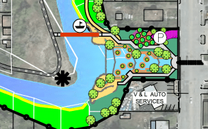 Rendering of the proposed The Three Creeks Confluence of Jordan River Reactivation & Riparian Restoration Project. Image courtesy Salt Lake City.