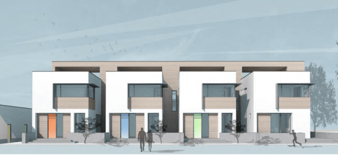 Rendering of the Central Ninth Row Houses. Image courtesy Salt Lake City Planning Division.