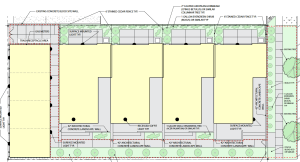 Landscape plans for the Central 9th Row Homes. Image courtesy Salt Lake City planning documents.