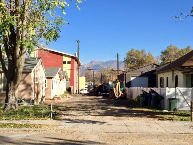 Ground work has started on the Washington Street Townhomes. Photo by Isaac Riddle.