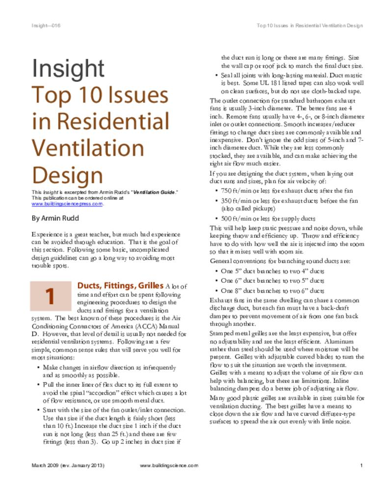 hight resolution of bsd 016 top ten issues in residential ventilation design