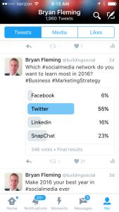 Twitter Polls results