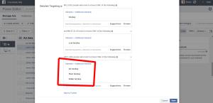 Facebook Flex Targeting Exclus