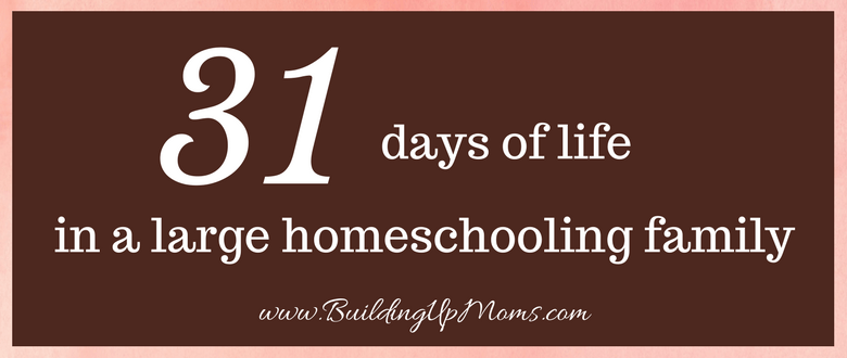 31 Days of Large Homeschooling Family