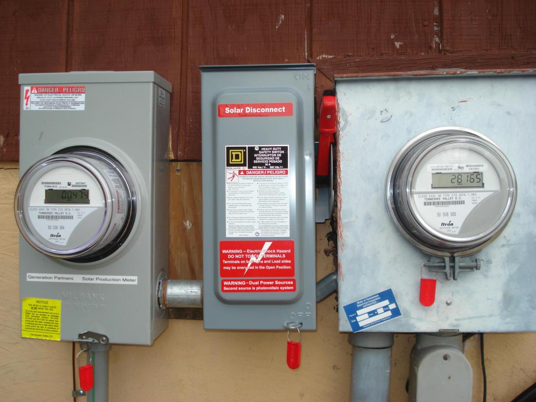 Gridtie Inverter Metering Diagram