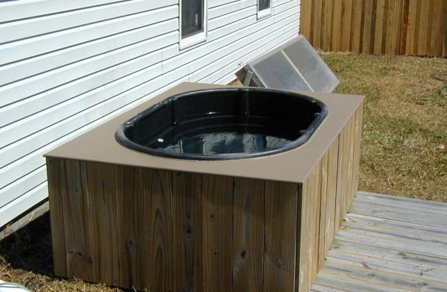 350 Solar Heated Hot Tub