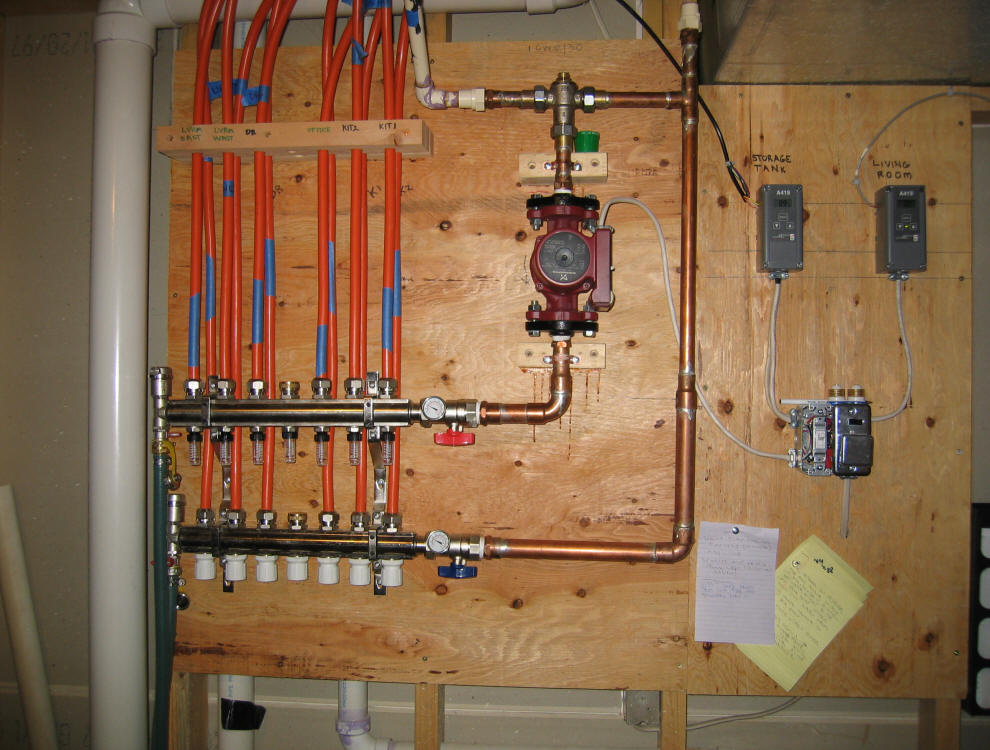 Solar House Heating System  Control Diagram