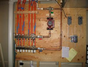 Solar House Heating System  Control Diagram