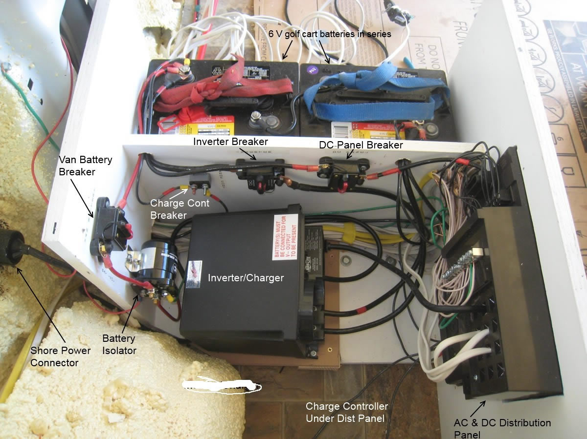 hight resolution of electrical install in rv