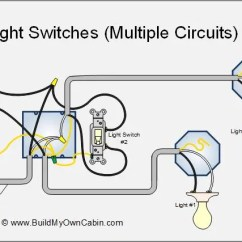 Electrical Wiring Diagram Light Switch 2005 Nissan Pathfinder Trailer Multiple Lights Switches To