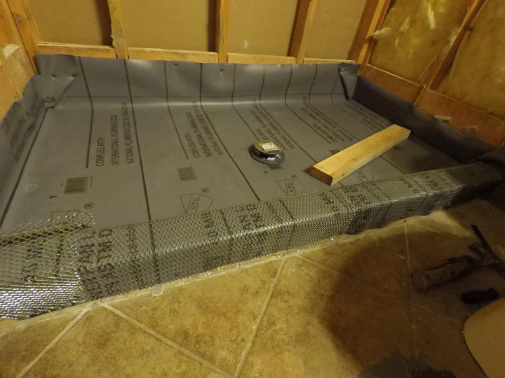 tile shower floor shower pan liner