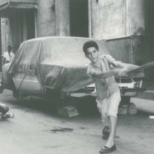 """Stick Ball"" Havana Cuba 1993 Gelatin silver print, Vintage 11 x 14 in. ©Michael Scalasi"