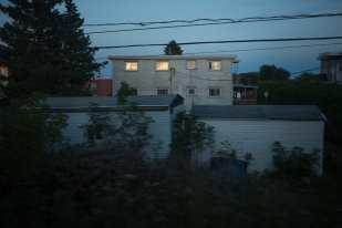 Apartments at Dusk (Canada, 6:43:06PM, Fall 2016, Adirondack Route)