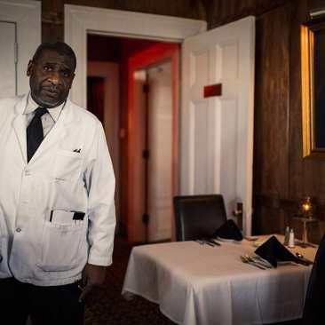 Waiter at Jimmy Kelley's Restaurant, Nashville, TN