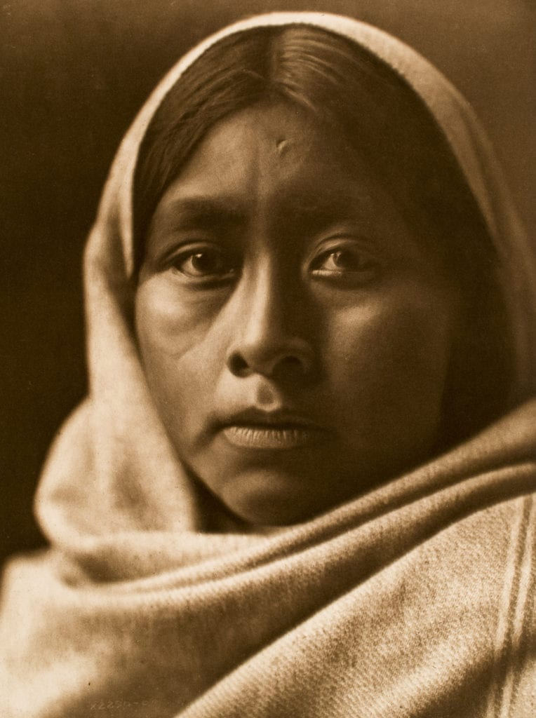 Edward S. Curtis, Papago Girl, ca. 1907, photogravure, 15 x 12""