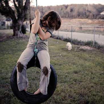Girl on Tire Swing, East TN
