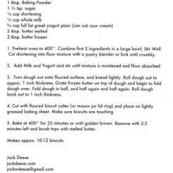 recipe jack deese