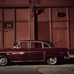 Haskell car, Chevrolet Bel Air, in the Twenties near 6th Avenue, 1975 ©Langdon Clay