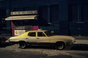 Pat's Hot and Cold Heroes car, Buick Skylark,Soho, 1976 ©Langdon Clay
