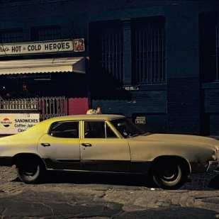 Pat's Hot and Cold Heroes car, Buick Skylark,Soho, 1976 ©Langdon Clay