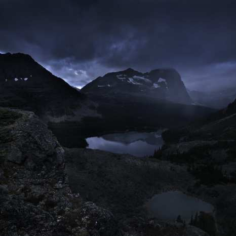 Rain, Lake O'Hara, Yoho National Park, Canada ©Peter Essick
