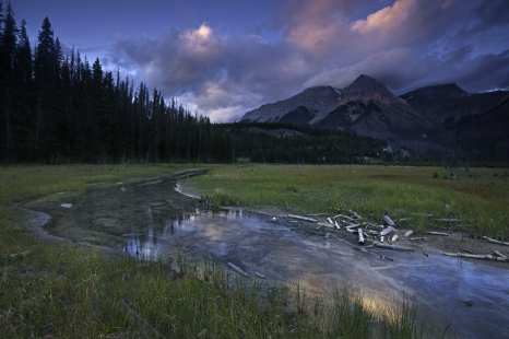 Sunset, Kicking Horse River, Yoho National Park, Canada ©Peter Essick