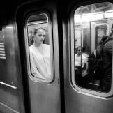 Subway Girl, NYC, ©David Carol
