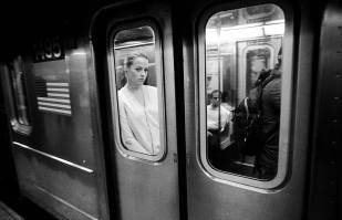 Subway Girl, NYC, ©David Carol