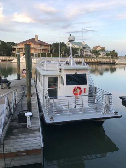 Dewees Island Ferry, our tether to the mainland. ©NancyMcCrary