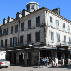 Napoleon House (Girod House) 1814, attributed to Jean-Hyacinthe Laclotte, 500-506 Chartes Street