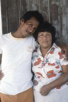 Ecuador 1979 Tomas y Gloria at Door in Punta Barandua WEB