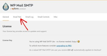 WP Mail SMTP تجربة الارسال