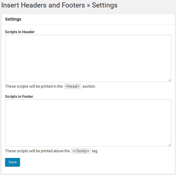 اضافة خاصة للصفحة Insert Headers and Footers