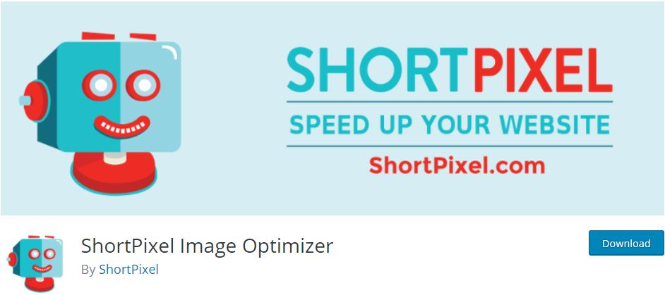 إضافة shortpixel لضغط الصور