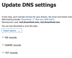 تحديث DNS