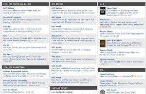 مدونات الرياضة