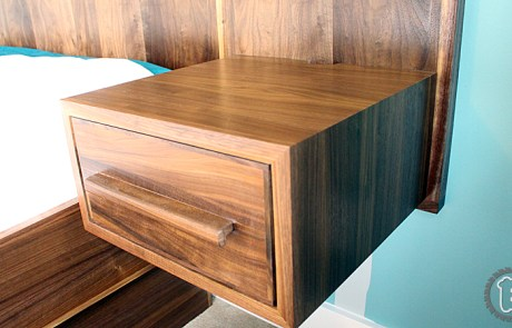 Mid-Cenurty Modern style bed side tables with continuous grain